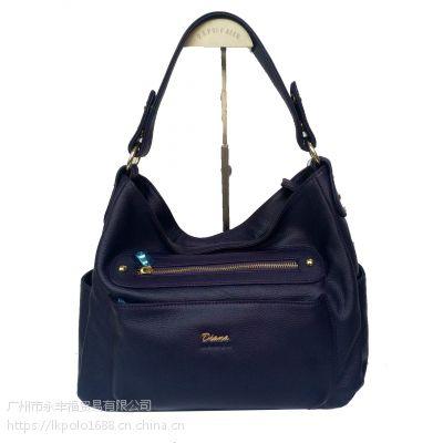 戴安娜大气女士百搭斜跨真皮女包手提包