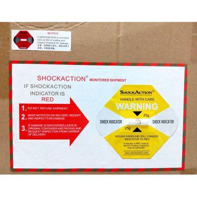 货物安全运输震动贴shockaction防震动标签