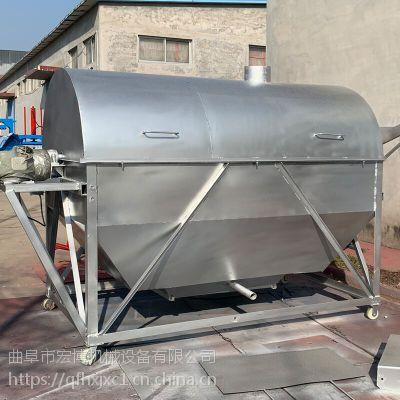 大豆五谷杂粮炒货机 商用辣椒炒货机 加厚滚筒400斤炒货机