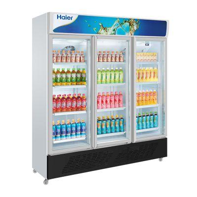 Haier/海尔展示柜SC-1050HL 三门立式冷藏柜 饮料展示柜 陈列柜 海尔冷柜