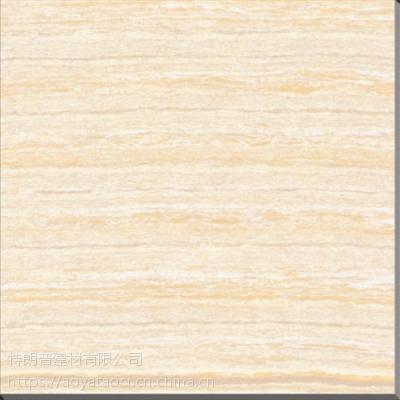 纹理自然,安全舒适——黄色金丝线石抛光砖