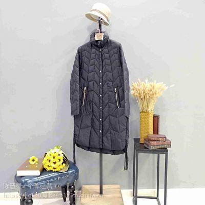 北京一线羽绒服品牌雪伦女装折扣库存批发厂家直销货源