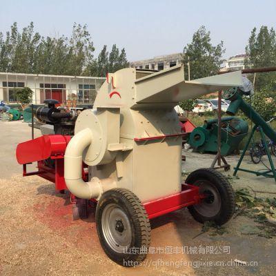 东北榆树木粉碎机 移动式木材粉碎机 大型木头切片机