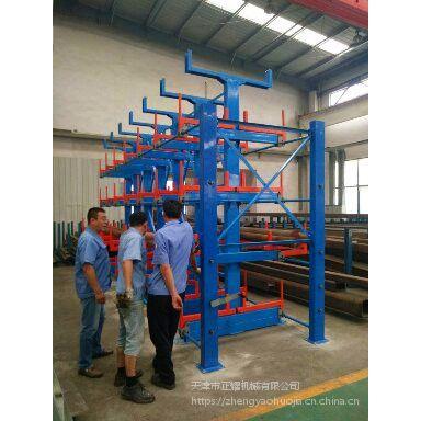 杭州重载钢材货架 伸缩悬臂货架价格 钢带存放架