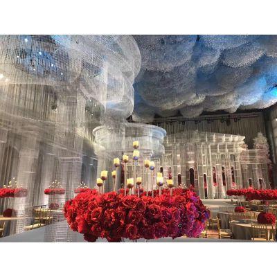 婚礼堂布景设计婚庆布置花艺装饰花艺布景展会布置舞台搭建