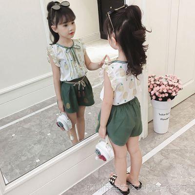 女童夏装套装2018新款6时髦7短裤8中大童9时尚10岁女孩洋气两件套