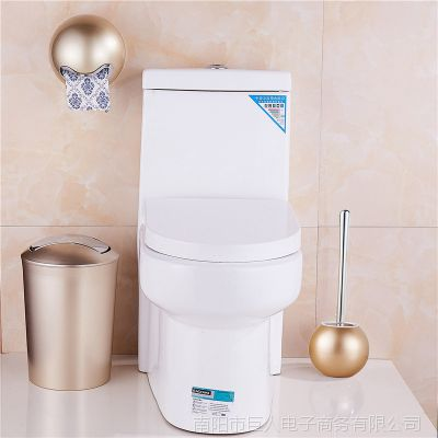 创意套装北欧式卫生间垃圾桶家用厕所浴室有盖垃圾筒摇盖式纸篓桶