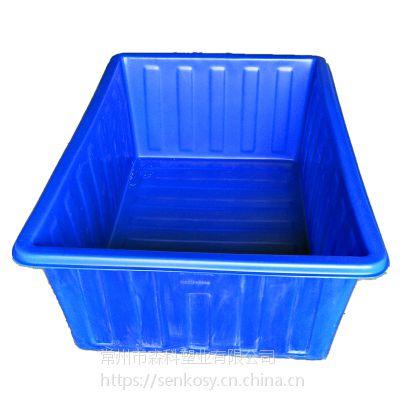 1100L塑料方箱 1.8*1.2米推布车内胆 滚塑耐磨牛筋方箱 PE材质水产养殖箱