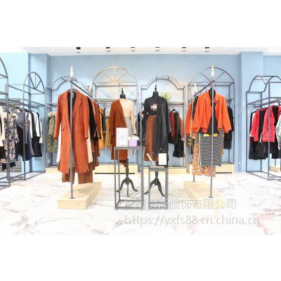卡拉贝斯哪些女装品牌卖的好折扣 品牌女装尾货中介棕色蕾丝衫