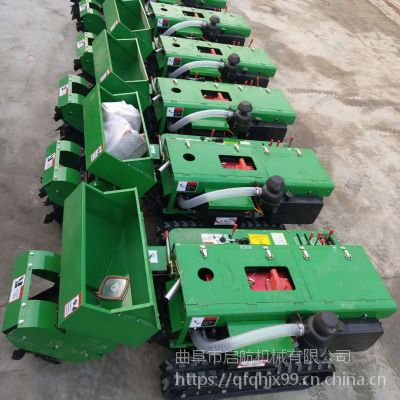 果园开沟施土杂肥回填机 广西果园开沟施肥机 启航农田菜园用管理机