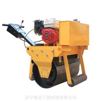 小型压路机厂家,手扶式单双钢轮震动压路机,柴油汽油手扶振动压路机修远道