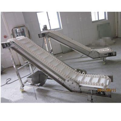 防滑绿色带送料机专业生产 日用化工输送机