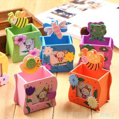 多功能卡通文具木质相框笔筒 KT猫留言木制儿童学习用品礼品