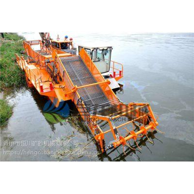 河面漂浮物收集船 内河大型液压割草船现货