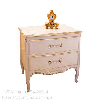 齐居置家欧式实木公主床头柜