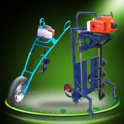 启航新型植树拖拉机打洞机 拖拉机带动树苗打洞机 打眼机图片