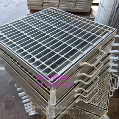 供应钢格板井盖_GM型井孔钢格板盖_GU型水沟盖板「泰江钢格板」