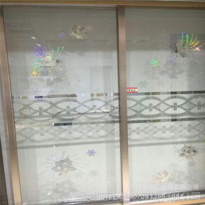 厂家直供家用家居隔断艺术玻璃银纹烫金工艺玻璃可钢化艺术玻璃
