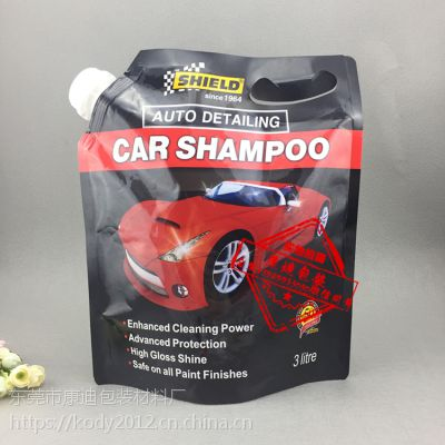 3公斤汽车清洗液泡沫液塑料软包装生产厂家图片报价5L无水冷却液袋供应