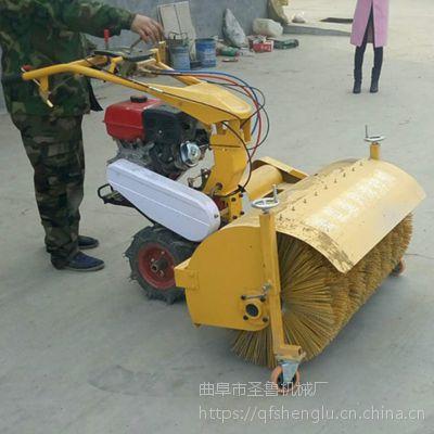 哈尔滨车站道路扫雪机 汽油自走式手扶抛雪机 圣鲁机械