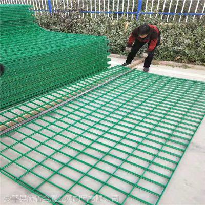 道路田园防护围栏 河南绿色围栏网厂家 桃型柱护栏网
