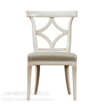 齐居置家YBCY003欧式实木软包休闲简约靠背餐椅