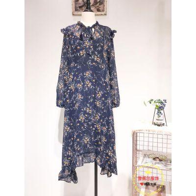 广州服装品牌折扣Lab夏装短袖雪纺上衣货源女装批发多种风格新款组货包