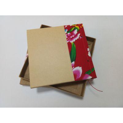 复古版刺绣笔记本套盒装 A5笔记本高端品质定制厂家 唐风-智造
