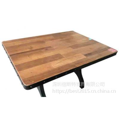 倍斯特简约现代贴瓷砖餐桌创意中餐湘菜厂家定制