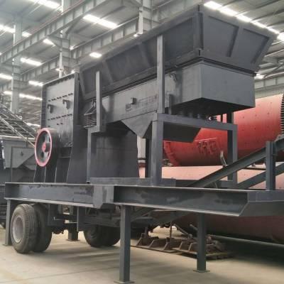 供应广西南宁移动轮胎式破碎机 可以随时拉走的移动式磕石机 流动刻石机