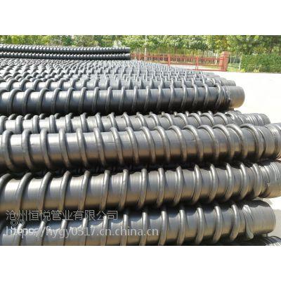 优质管材 克拉管 厂家大批量生产 HDPE缠绕管今日价格