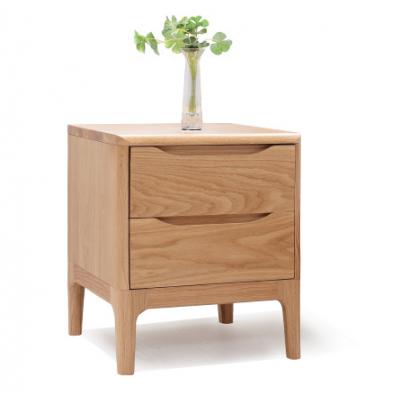 美琳馨 纯全实木床头柜 白橡木卧室家具储物柜 环保二斗柜 美琳馨招商