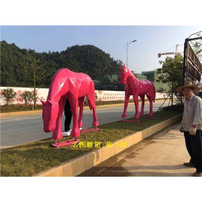深圳动物玻璃钢雕塑定做 房地产公园主题动物雕塑摆件