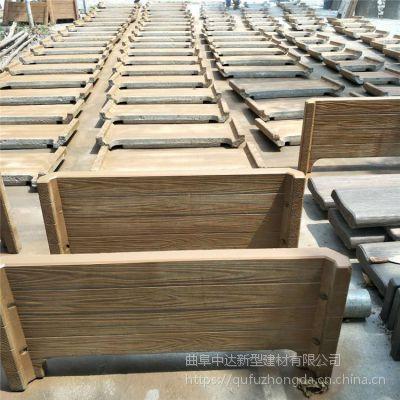 唐山市厂家制作优质水泥仿木组合花箱花桶,景观工程专用仿木成品