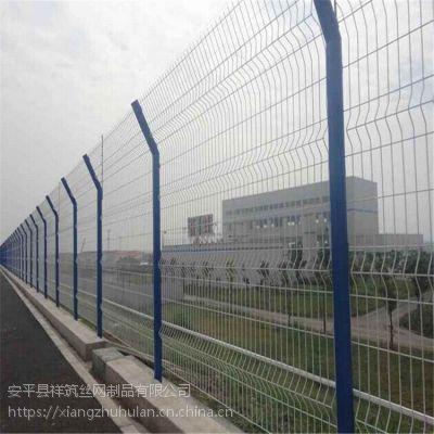 包头浸塑公路护栏网片 双边丝公路护栏网厂家 牧区网围栏