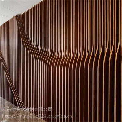奇怪的造型、新异的工艺铸造各种弯弧铝格栅