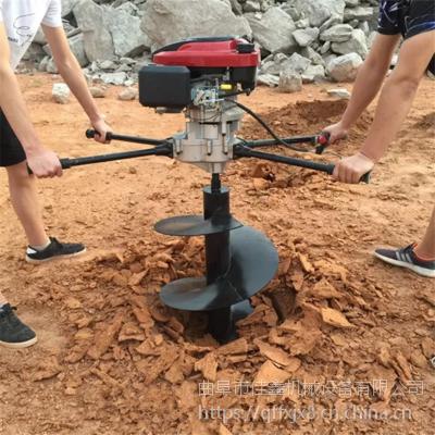 高速公路铁路围栏柱孔地钻机-便于携带山坡种植挖坑机-胡椒种植埋桩挖穴机价格