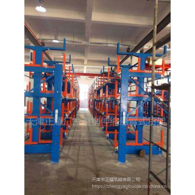 四川铝型材存放架 伸缩悬臂式货架优点 重型货架