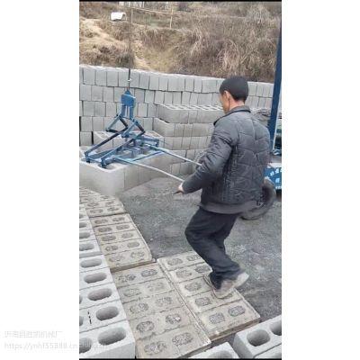 水泥砖夹砖机上车机视频