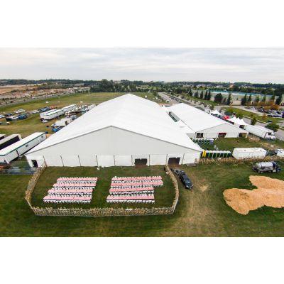 丽江12X100厂家直供优质展览帐篷 大型篷房 高强度铝合金大篷 白色PVC涂层布