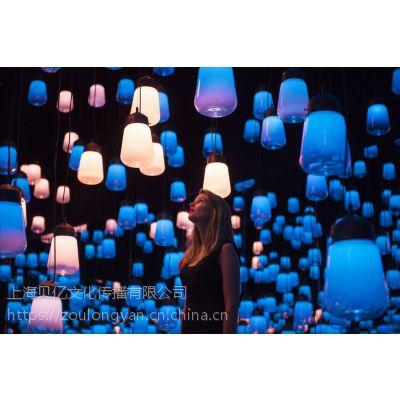 灯光互动装置地产活动展览未来视界展览呼吸灯呼吸森林出租