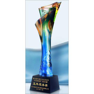合肥创意新款水晶奖杯奖牌定制刻字高档玻璃工艺品年会颁奖纪念品定做