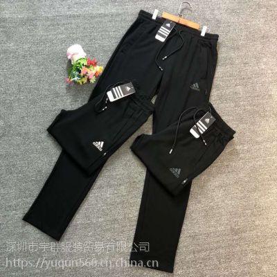 新品锦罗罗马面料运动男裤服装货源只在宇群服饰