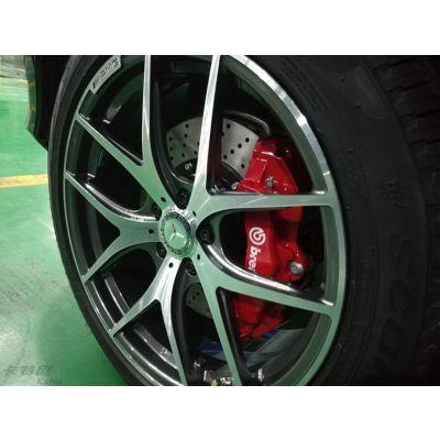 成都奔驰GLE400改装20寸轮毂BREMBO刹车