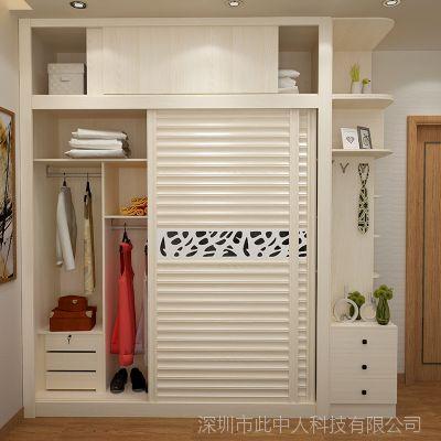 整体衣柜卧室组合移门推拉门2门3现代简约趟门大衣橱板式滑门