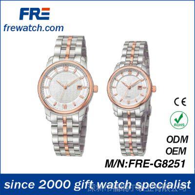 男士情侣女士手表不锈钢日本进口瑞士石英非机械手表商务手表