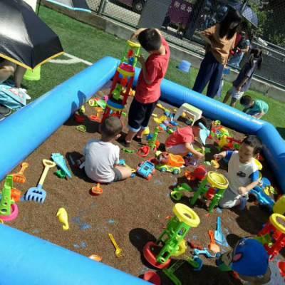 河南郑州9平方新款儿童充气沙滩池套餐户外摆摊赚钱吗