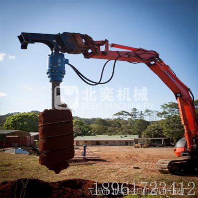 螺旋钻机 专业太阳能光伏电站挖掘机液压打桩机