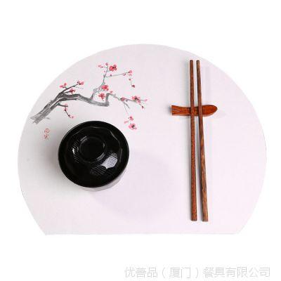 优善品器演半月托盘垫纸 日本进口防油防水餐具垫纸 100张一包