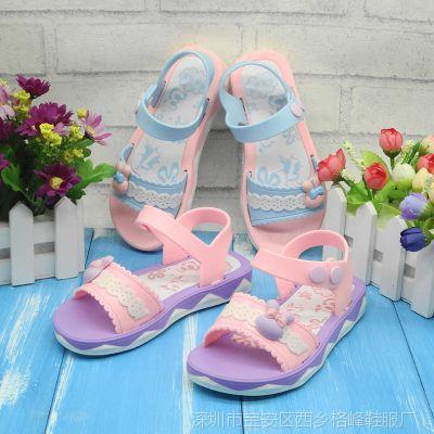 女童凉鞋特价新款女童凉鞋 韩版中大童公主鞋学生凉鞋 现货批发